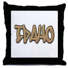 Idaho Graffiti Throw Pillow