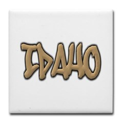 Idaho Graffiti Tile Coaster