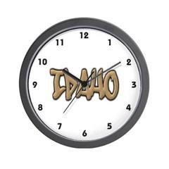Idaho Graffiti Wall Clock