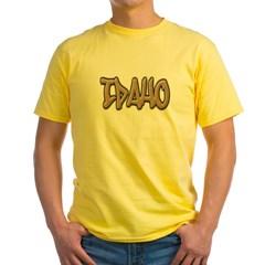 Idaho Graffiti Yellow T-Shirt