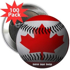 "Canadian Baseball 2.25"" Button (100 pack)"