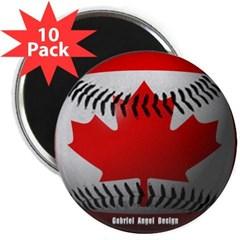"Canadian Baseball 2.25"" Magnet (10 pack)"