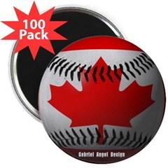"Canadian Baseball 2.25"" Magnet (100 pack)"