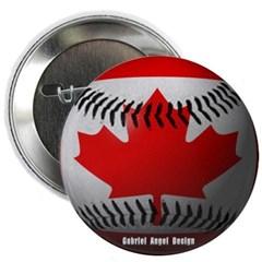 Canadian Baseball Button