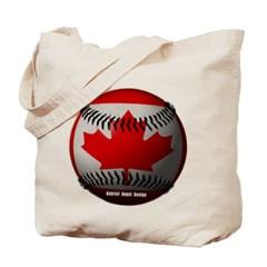 Canadian Baseball Canvas Tote Bag