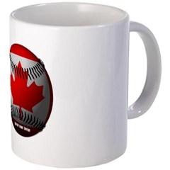 Canadian Baseball Coffee Mug