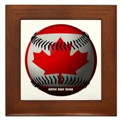 Canadian Baseball Framed Tile