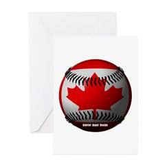 Canadian Baseball Greeting Cards (Pk of 10)