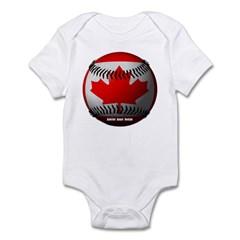 Canadian Baseball Infant Bodysuit