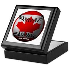 Canadian Baseball Keepsake Box