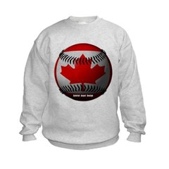 Canadian Baseball Kids Crewneck Sweatshirt by Hanes