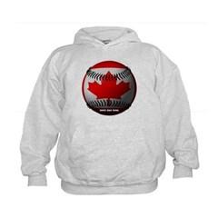 Canadian Baseball Kids Sweatshirt by Hanes