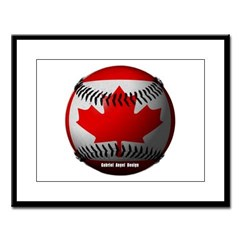 Canadian Baseball Large Framed Print