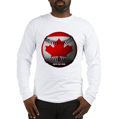 Canadian Baseball Long Sleeve T-Shirt