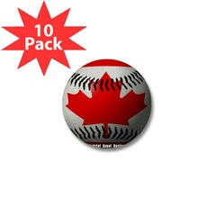 Canadian Baseball Mini Button (10 pack)