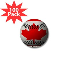 Canadian Baseball Mini Button (100 pack)