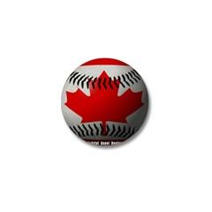 Canadian Baseball Mini Button