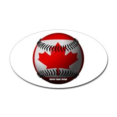 Canadian Baseball Oval Decal