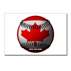 Canadian Baseball Postcards (Package of 8)