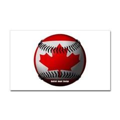 Canadian Baseball Rectangle Decal