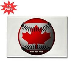 Canadian Baseball Rectangle Magnet (10 pack)