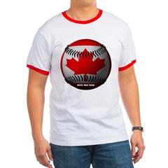 Canadian Baseball Ringer T-Shirt