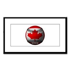 Canadian Baseball Small Framed Print