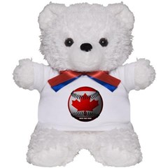 Canadian Baseball Teddy Bear