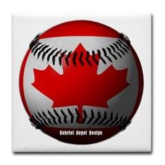 Canadian Baseball Tile Coaster