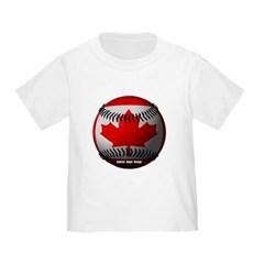 Canadian Baseball Toddler T-Shirt