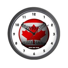Canadian Baseball Wall Clock