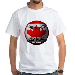 Canadian Baseball White T-Shirt