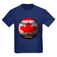 Canadian Baseball Youth Dark T-Shirt by Hanes