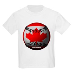 Canadian Baseball Youth T-Shirt by Hanes