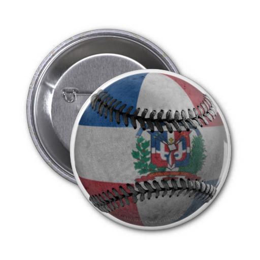 Dominican Republic Baseball 2 Inch Round Button