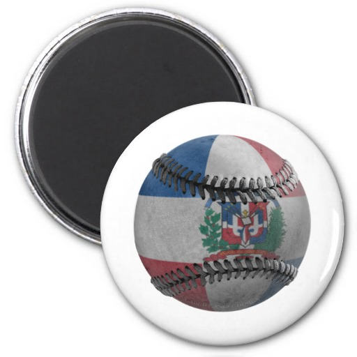 Dominican Republic Baseball 2 Inch Round Magnet
