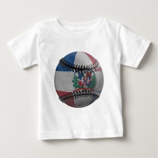 Dominican Republic Baseball Baby Fine Jersey T-Shirt