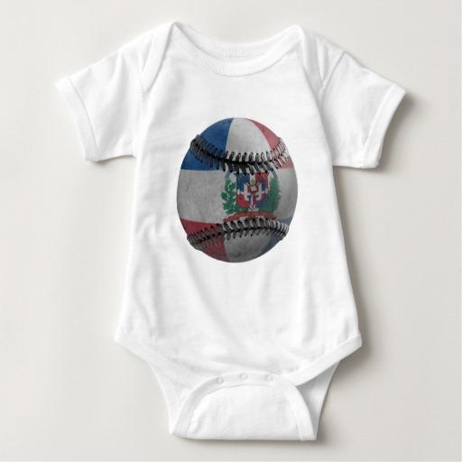 Dominican Republic Baseball Baby Jersey Bodysuit