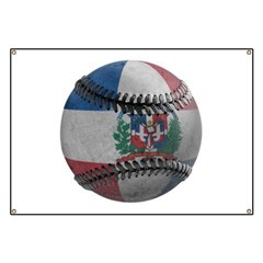 Dominican Republic Baseball Banner