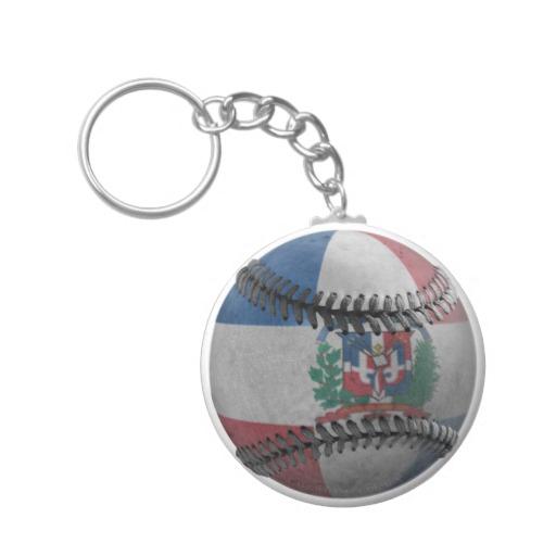 Dominican Republic Baseball Basic Button Keychain