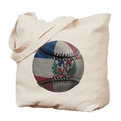 Dominican Republic Baseball Canvas Tote Bag
