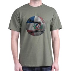 Dominican Republic Baseball Dark T-shirt