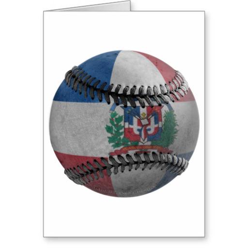 Dominican Republic Baseball Greeting Card