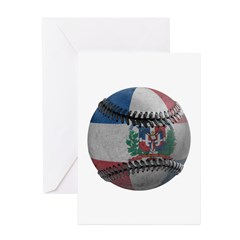 Dominican Republic Baseball Greeting Card