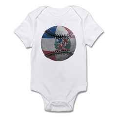Dominican Republic Baseball Infant Bodysuit