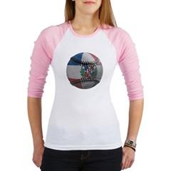 Dominican Republic Baseball Junior Raglan T-shirt