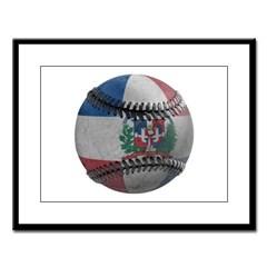 Dominican Republic Baseball Large Framed Print