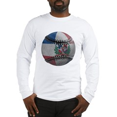 Dominican Republic Baseball Long Sleeve T-Shirt