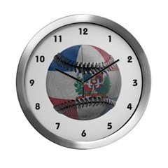 Dominican Republic Baseball Modern Wall Clock