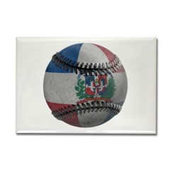 Dominican Republic Baseball Rectangle Magnet